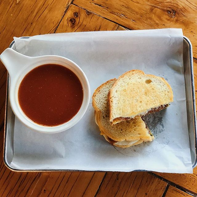 New special! Vegetarian tomato soup with a bacon pesto grilled cheese sandwich... mmmmmmm yum! 🤗🍻🥪 • • • #nationsbarandgrill #nationsbandg #thenations615 #nashville #nashvilleeats #eatnashville #goodfood #besthappyhour #neighborhoodbar #friendsandfamily #dogfriendly #predsnation