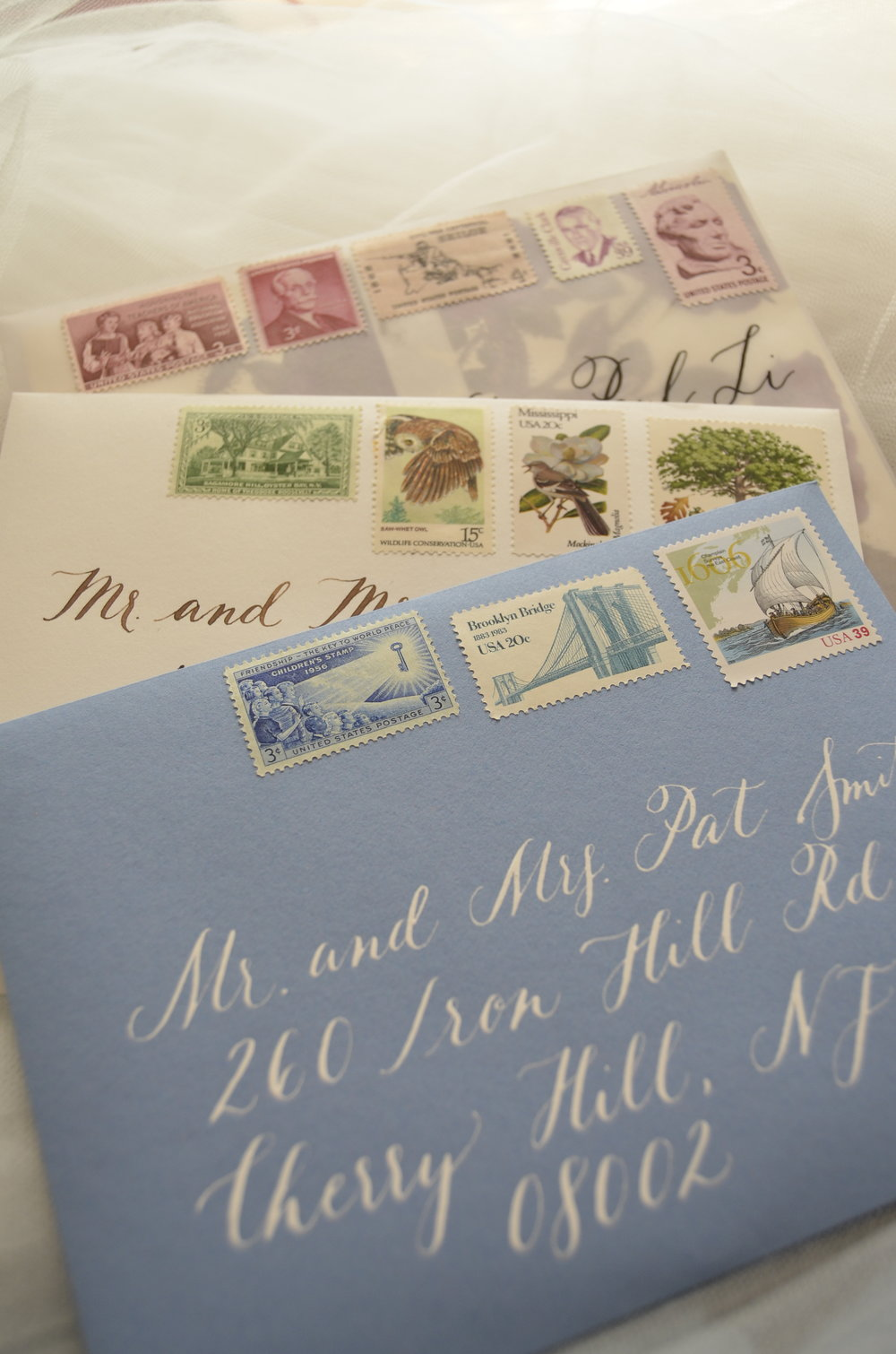 Portland Envelope calligraphy wedding