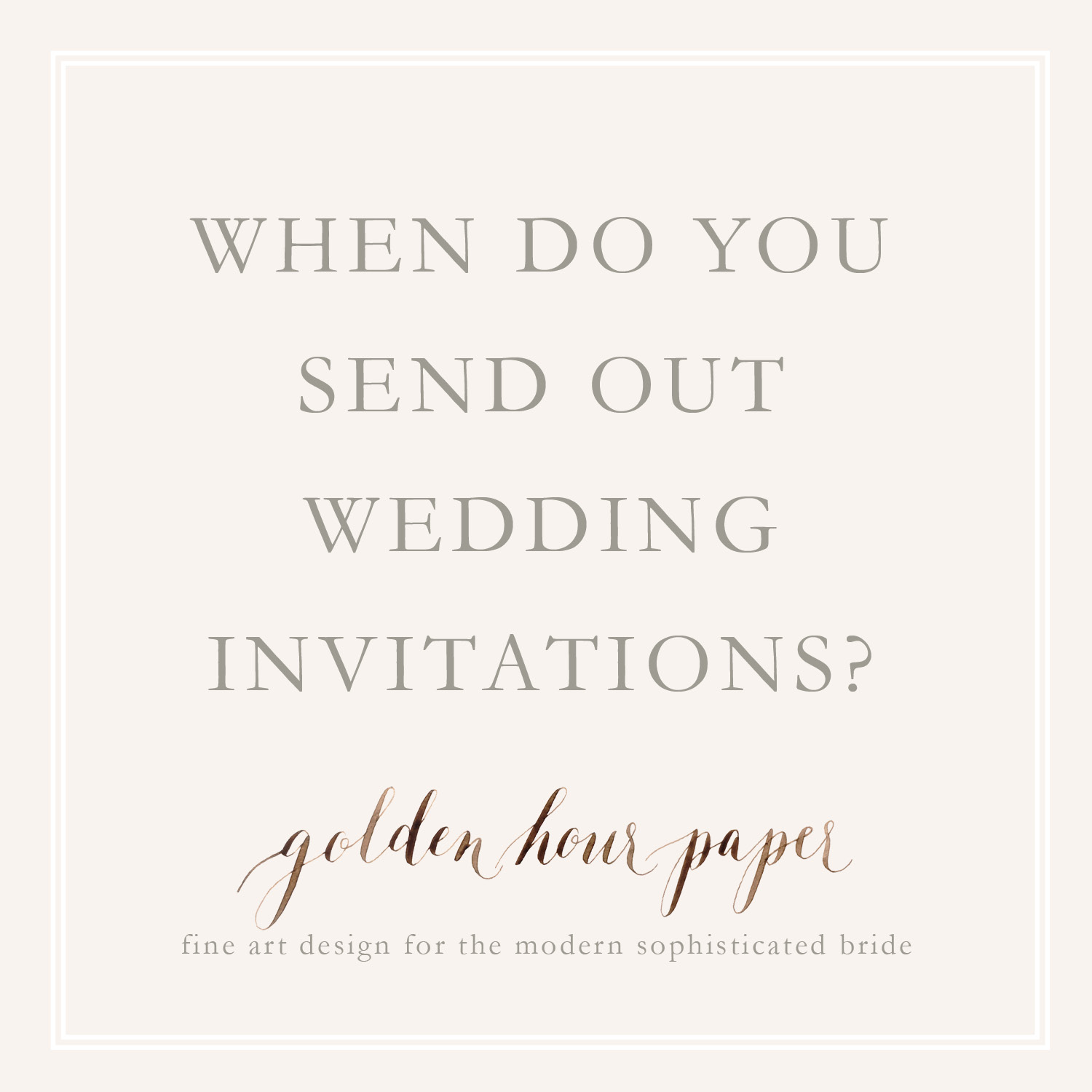 When Do You Send Out Wedding Invitations
