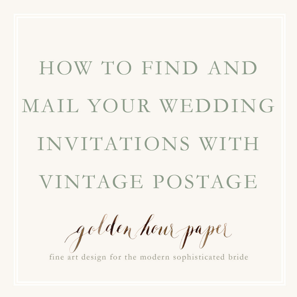 vintage postage for wedding invitations