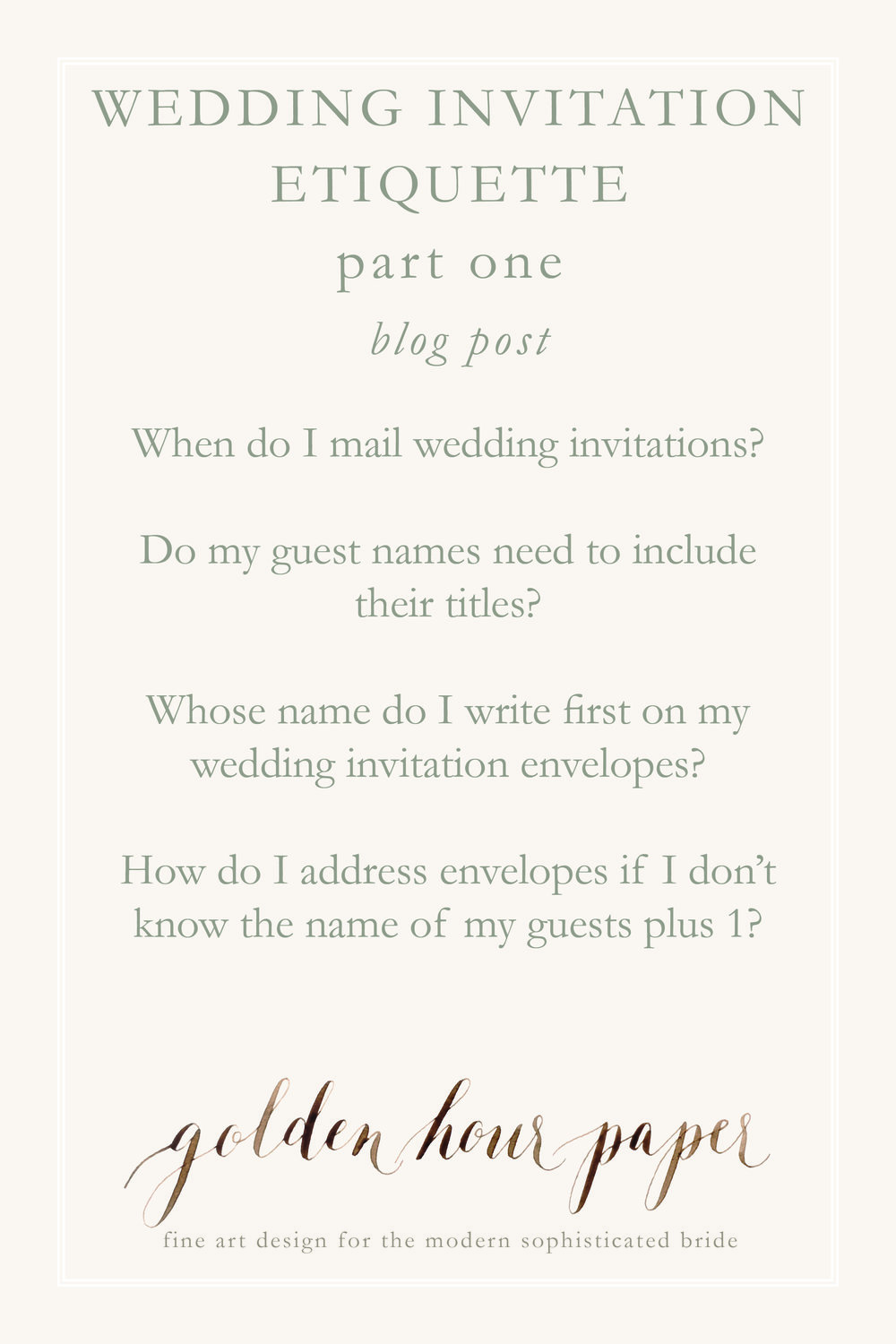 Wedding invitation etiquette | part 1