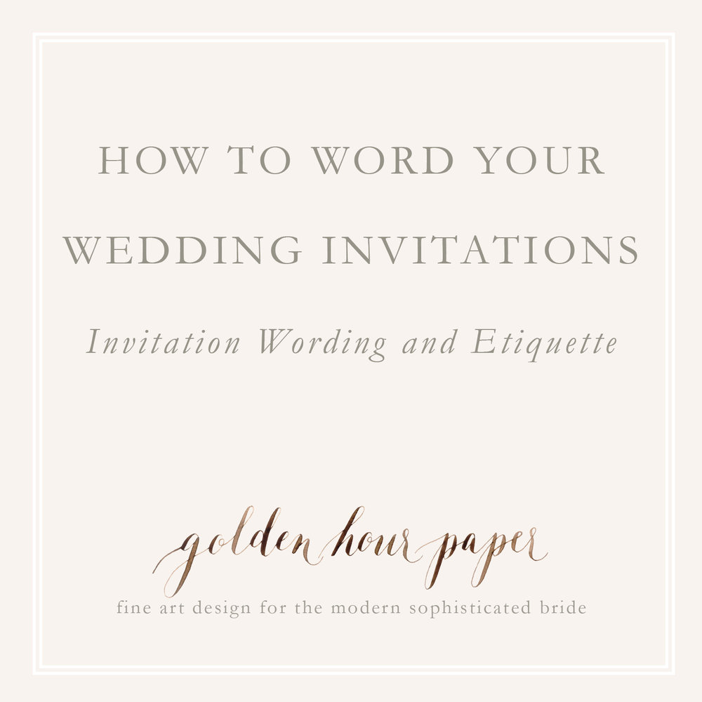 How to word your wedding invitations invitation wording and etiquette wedding invitation wording filmwisefo