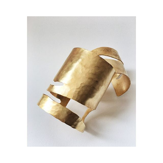 "Brass cutout cuff. My daily. In the shop or comment, ""for me"" and dm me your email and I'll email a square invoice and Pop one these two babies in the mail for you.  #brass #cuff #denver #denverlife #shopsmall #shoplocal #boutique #modern #minimal"