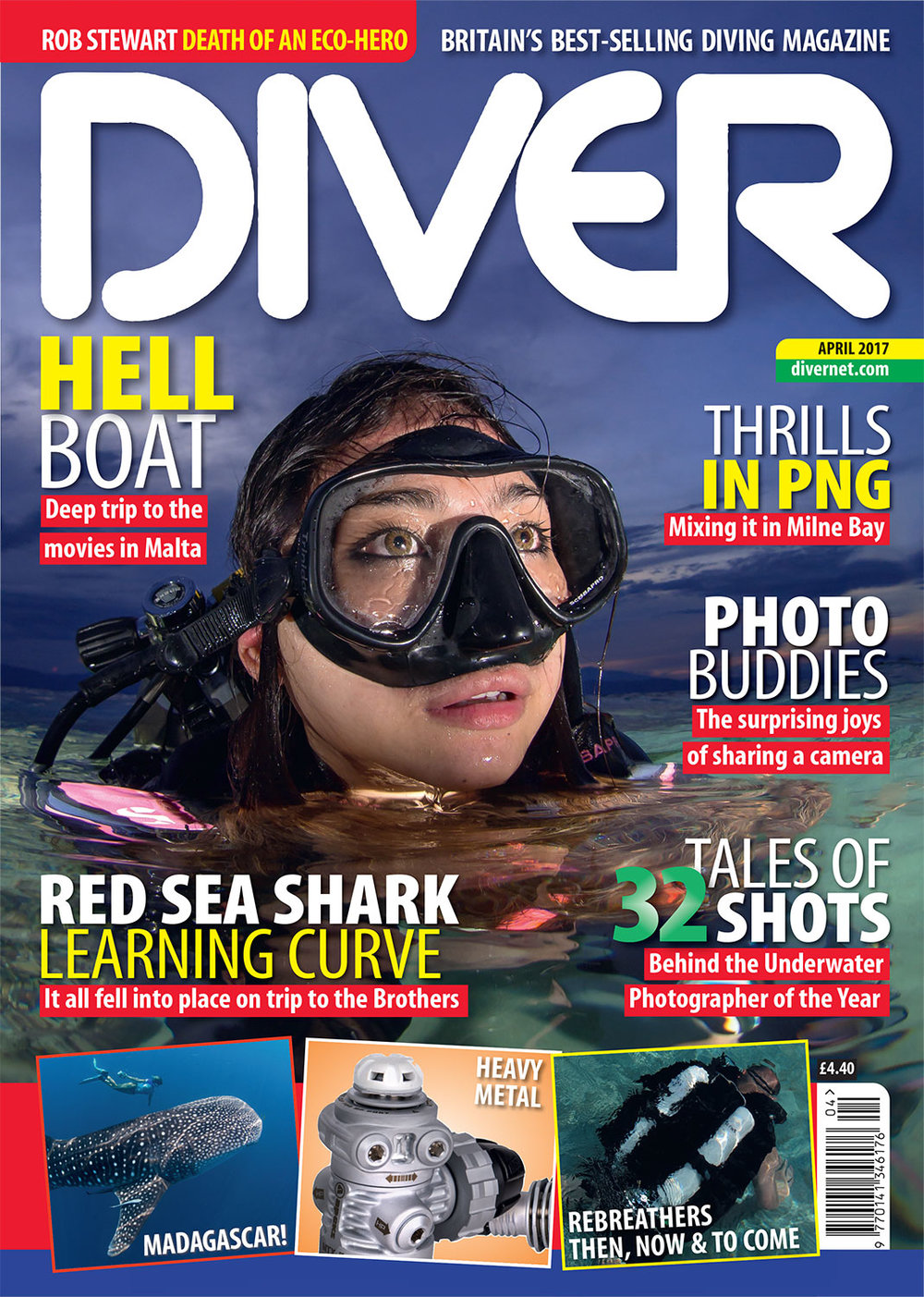 Front Cover DIVER Magazine - April 2017