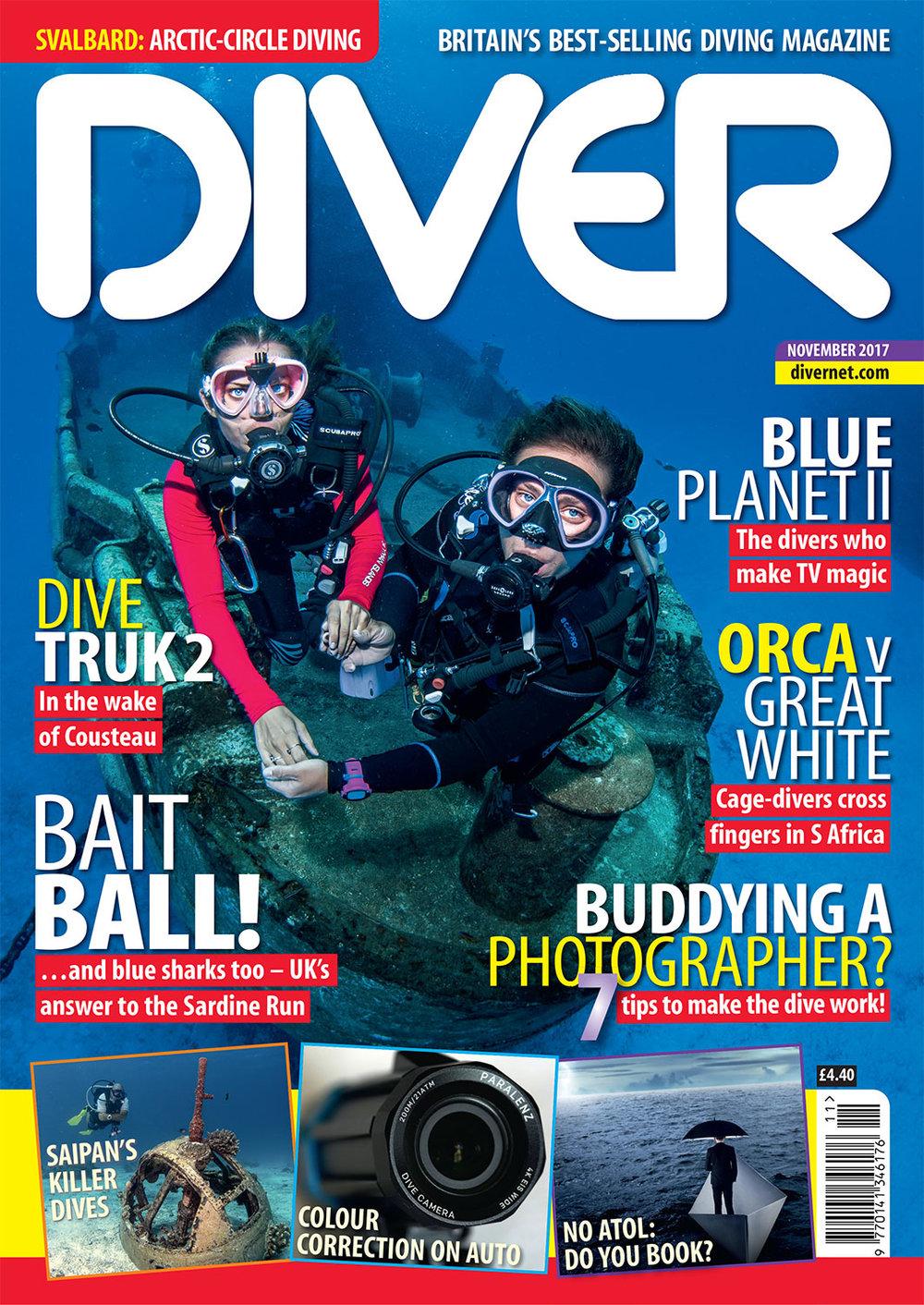 Front Cover DIVER Magazine - November 2017