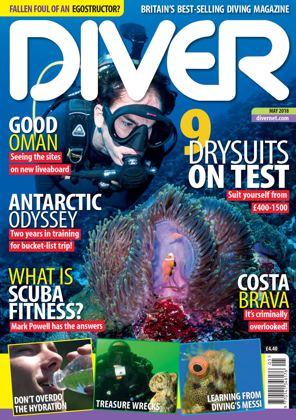 Front Cover DIVER Magazine - May 2018