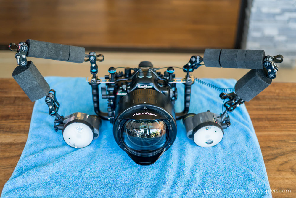 The Nauticam Wide Angle Corrector Port (WACP) fitted to my housing. It functions as both a port and a lens, optimising the optics for use underwater and expanding the field of view.