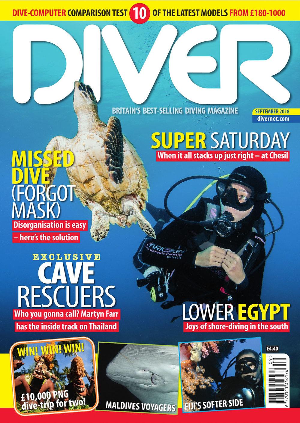 Front Cover DIVER magazine - September 2018
