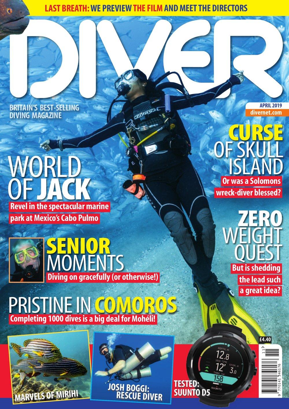 Front Cover DIVER magazine - April 2019