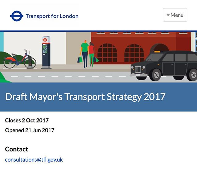 New blog post up covering the draft London transport policy consultation. #WeRideLondon #ProtectBikers #BikersUnited  http://www.weridelondon.com/blog/2017/8/19/draft-london-transport-policy