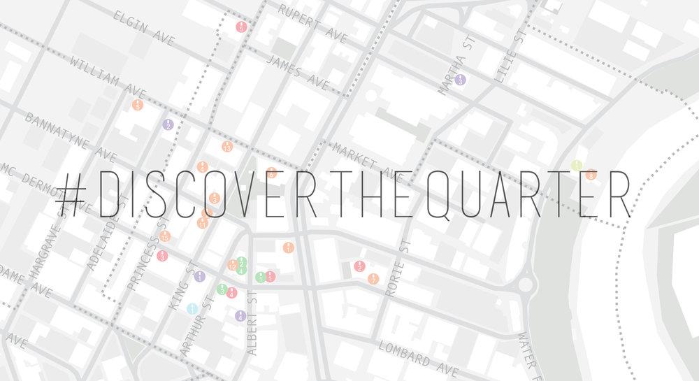 Launch Event DESIGN QUARTER WINNIPEG - Us event map design