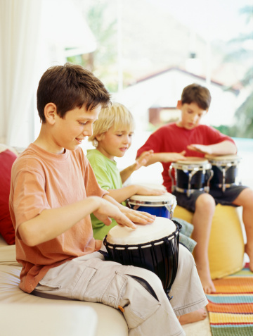 Health Rhythms Drumming reduces stress in San Diego.