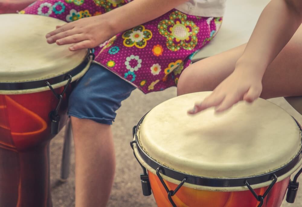 Health Rhythms drumming occupational therapy for children.