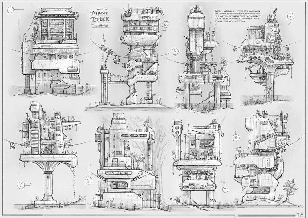 2D Thumbnails — Gondola Transit Towers