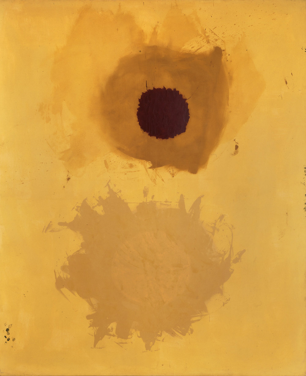 <br><i>Aureole</i> <br> 1959<br>Oil on linen<br>108 x 90""