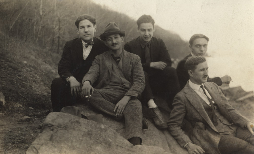 Newman, Gottlieb, Borodulin, Soglow<br>& unidentified <br> Central Park, 1925
