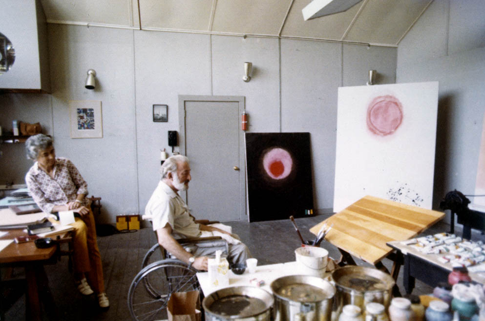 Adolph and Esther Gottlieb <br> East Hampton studio <br> 1973