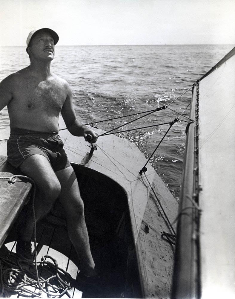 Adolph Gottlieb sailing <br> Provincetown, MA<br>c. 1948