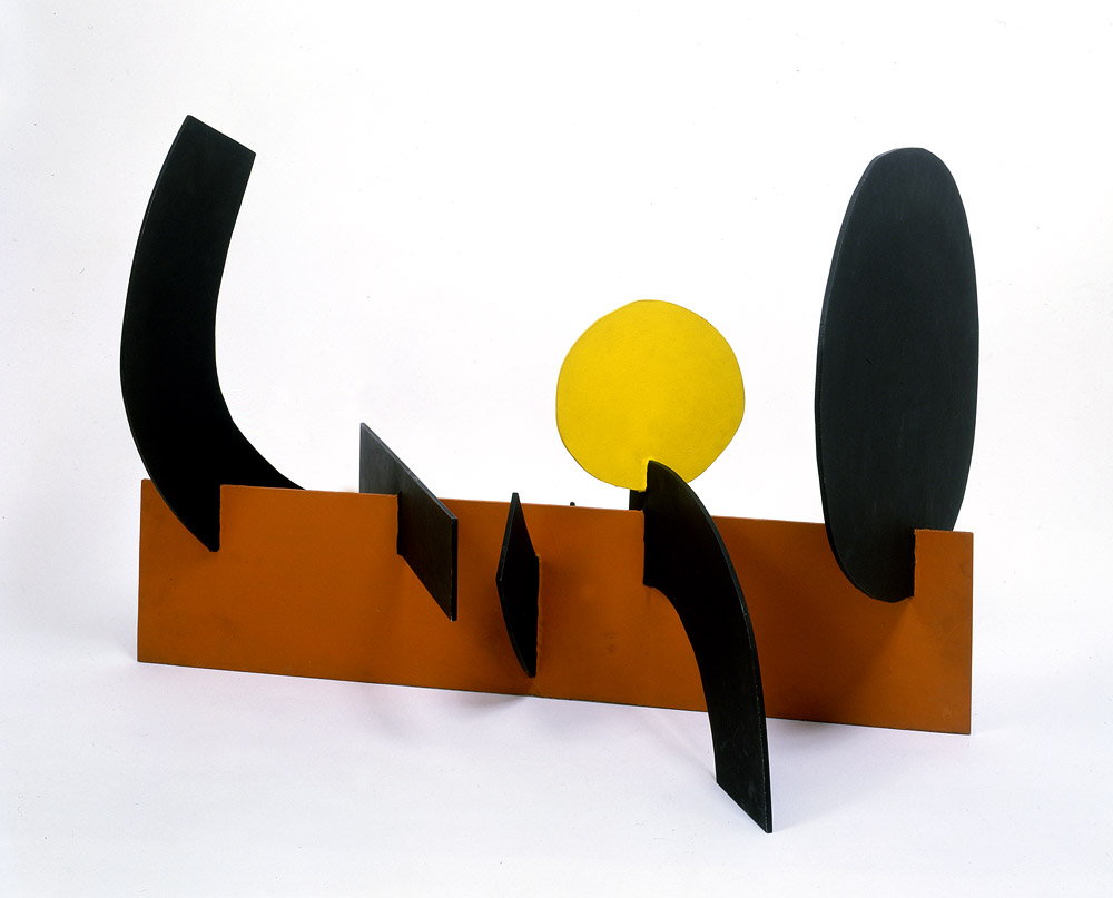 <br><i>Wall</i> <br> 1968<br>Painted aluminium<br>26 x 40 x 24""