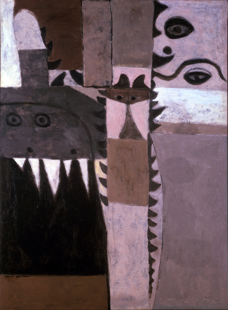 <br><i>Pictograph - Symbol</i> <br> 1942<br>Oil on canvas<br>54 x 40""
