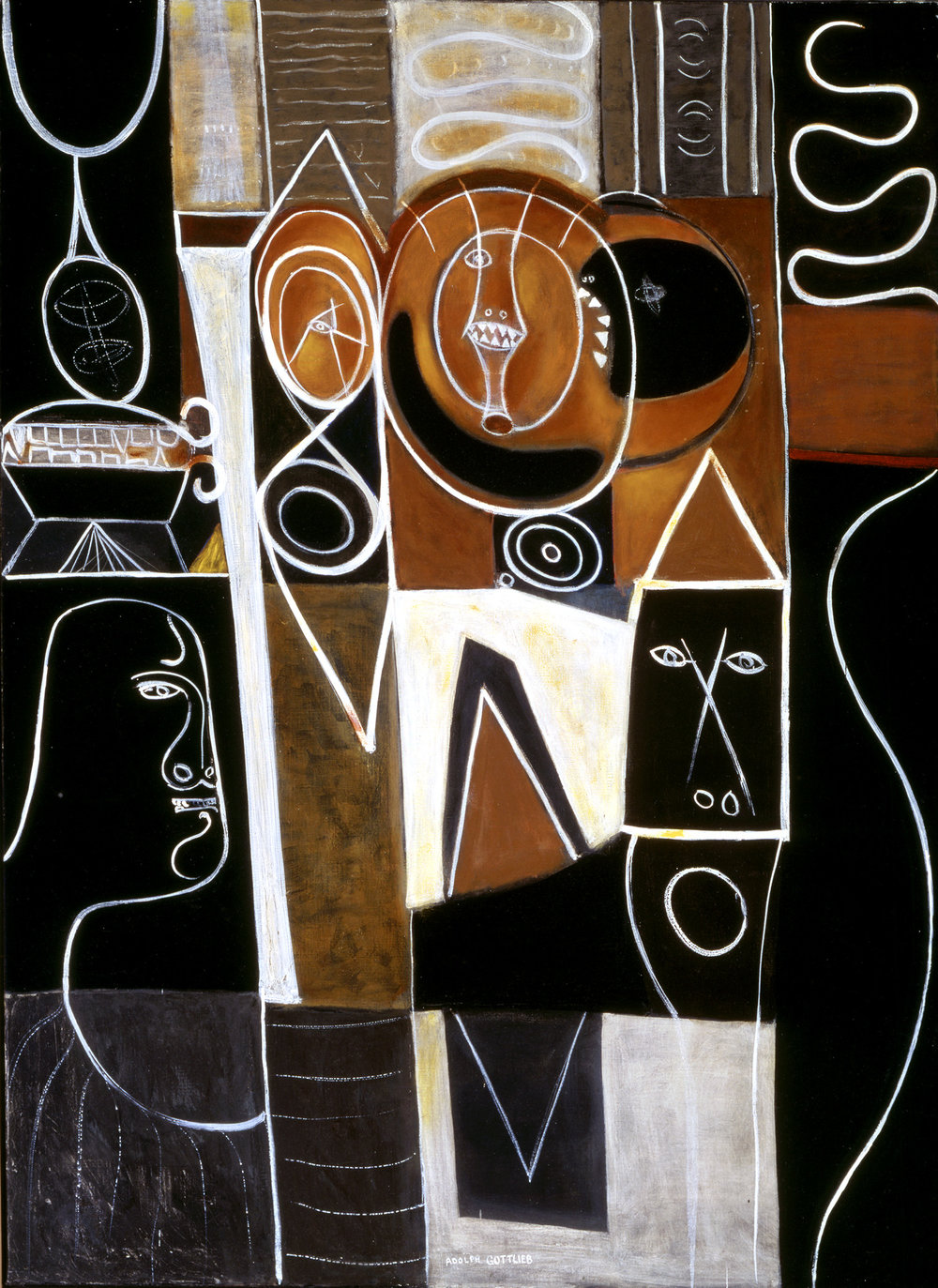 <br><i>Alkahest of Paracelsus</i> <br> 1945<br>Oil on linen<br>60 x 44""