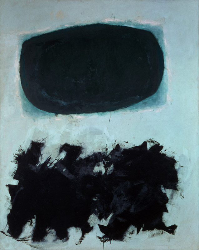 <br><i>Exclamation</i> <br> 1958<br>Oil on canvas<br>90 x 72""
