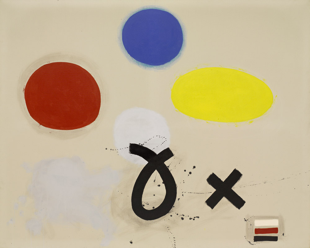 <br><i>Open and Closed</i> <br> 1968-1970 <br>Oil on linen<br>72 x 90""