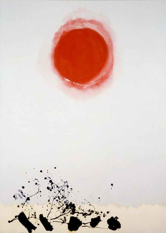 <br><i>Burst 1973</i> <br> 1973<br>Acrylic and enamel on canvas<br>84 x 60""