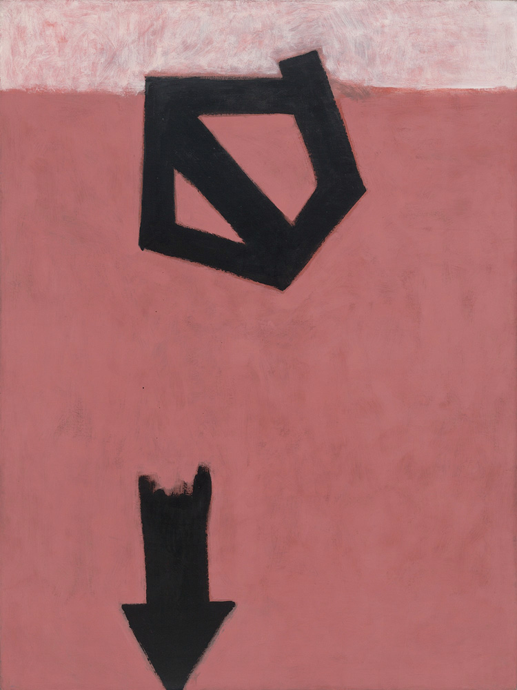 <br><i>Descending Arrow</i><br>1956<br>Oil on canvas<br>96 x 72""