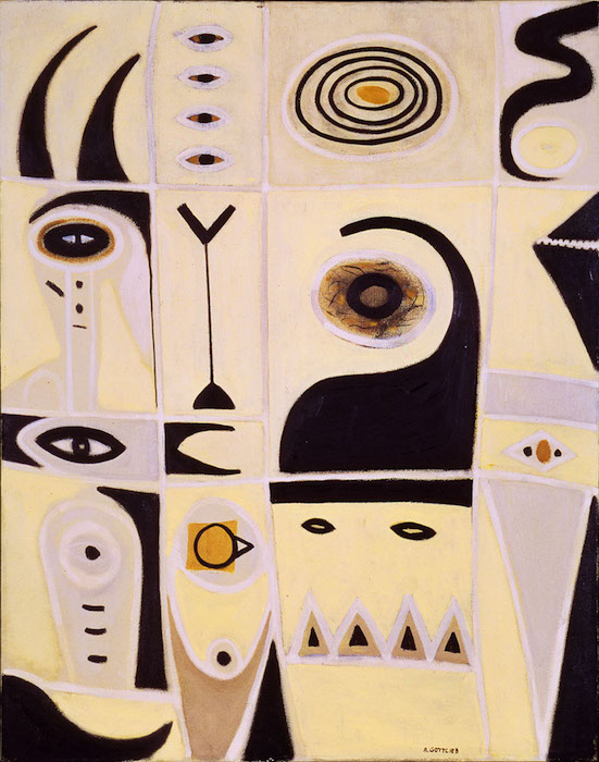 <br><i>Evil Omen</i><br>1946<br>Oil on canvas<br>38 x 30""