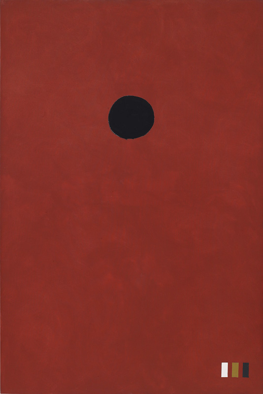 <br><i>The Red</i><br>1972<br>Oil on linen<br>90 x 60""
