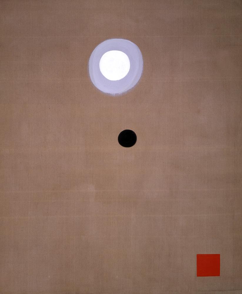 "<br><i>Max-Minimal</i><br>1973<br>Acrylic on linen<br> 108 x 90"""