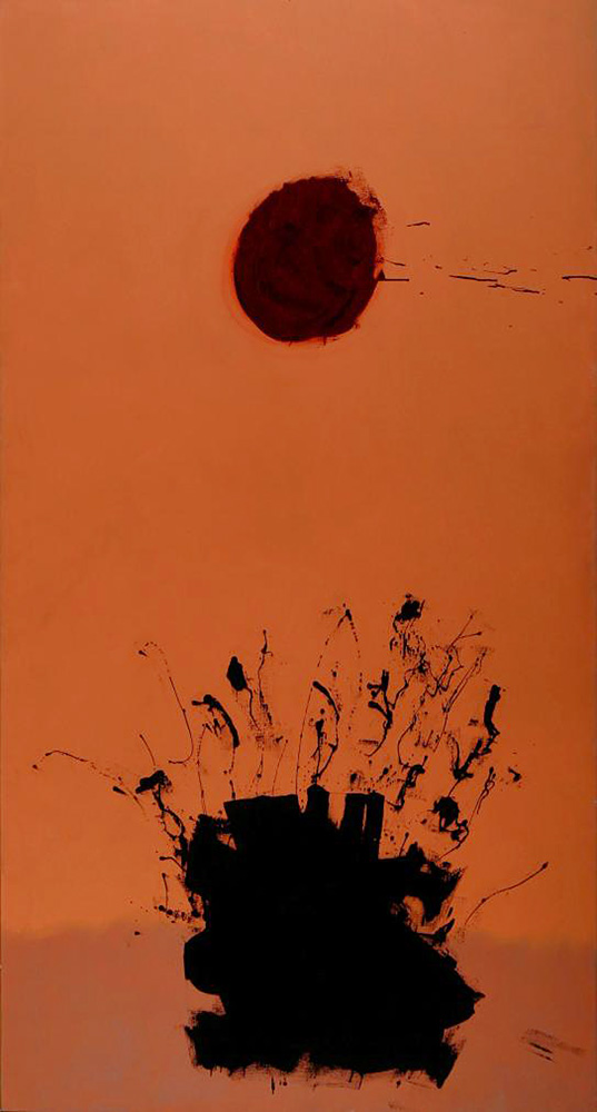 <br><i>Drift</i><br>1971<br>Resin on canvas<br>90 x 48""