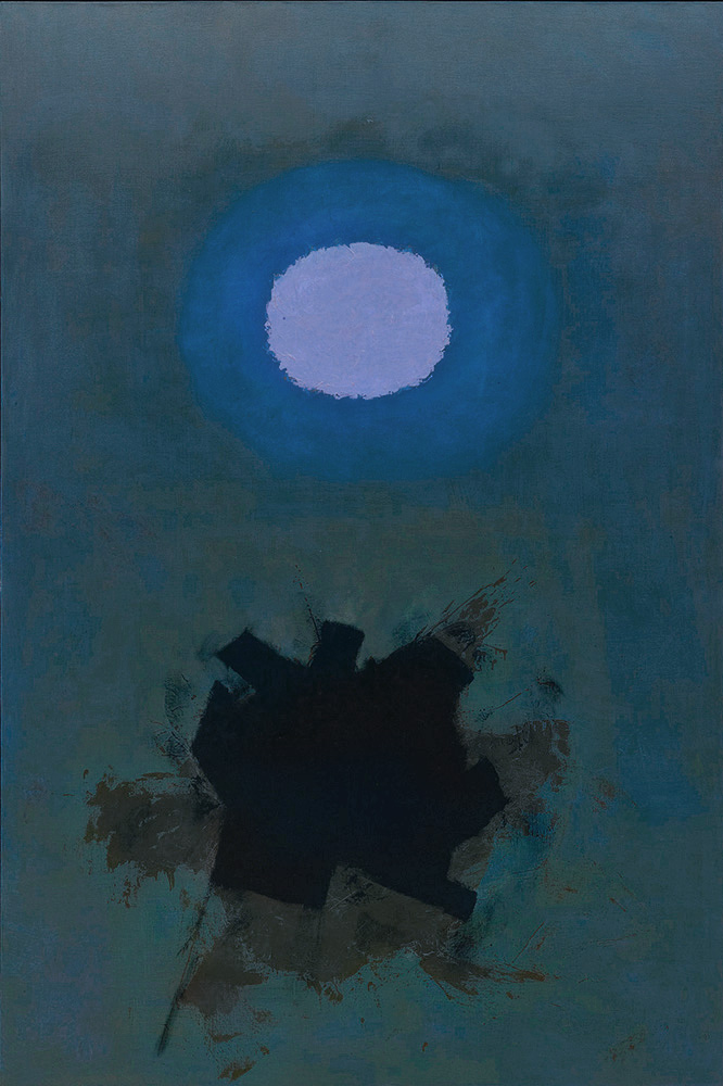 <br><i>Orb</i><br>1964<br>Oil on canvas<br>90 x 60""