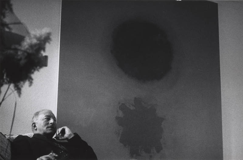 Adolph Gottlieb in his East Hampton home<br>1960s