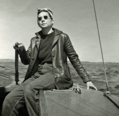 Esther Gottlieb sailing in Provincetown, late 1940s.