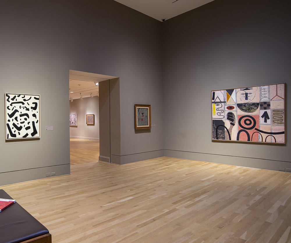 "Installation view, ""Ten Americans After Paul Klee"" at the Phillips Collection. Photo by Lee Stalsworth."