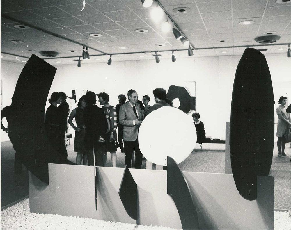 "WALL, painted aluminum, 1968, 90 x 53 x 132"""