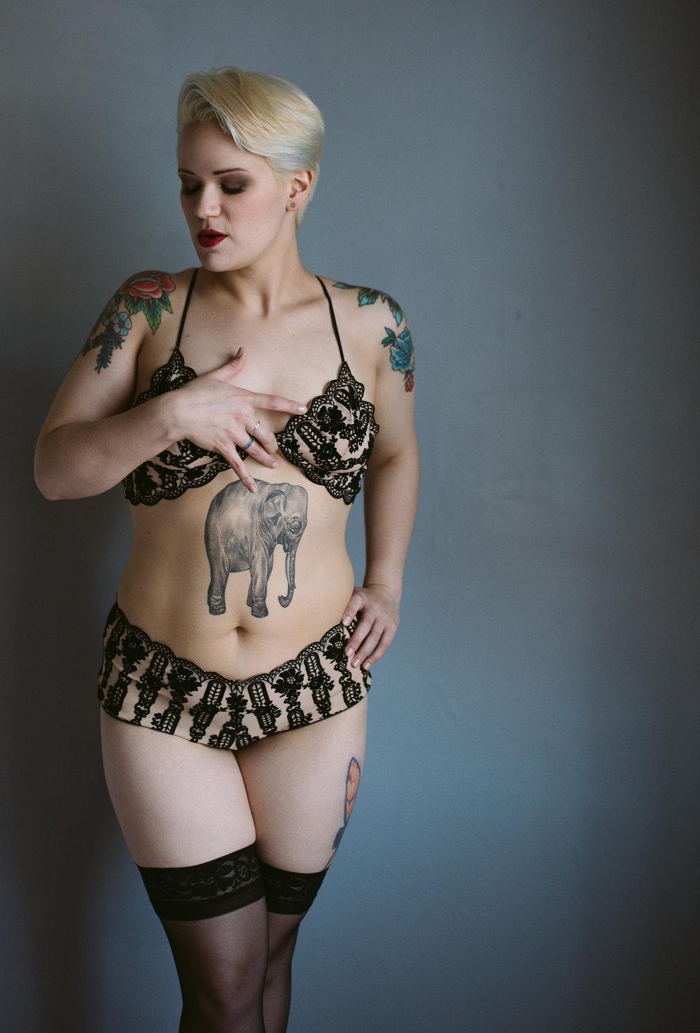 boudoir session tattoos