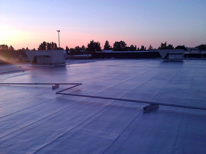 Fiberglass & Emulsion System is spray applicated and can be installed over nearly any roof surface.