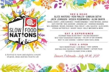 This July, Slow Food USA welcomes the world to Denver, Colorado for Slow Food Nations, a festival to taste and explore a world of good, clean and fair food for all. The weekend will combine the energy of a street food festival, the rigor of an academic conference, and the inspiration of a cultural exchange. Enjoy dozens of interactive workshops, delicious tastings, local tours, educational talks, and plenty of meals and parties. Slow Food Nations connects farmers and families, leaders and eaters to share our stories and shape the future of food.