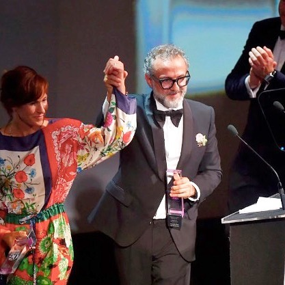 Congratulations @massimobottura & @laratgilmore #osteriafrancescana #worlds50best @whitegateevents is excited to work with you next month #slowfoodnations #foodactivist