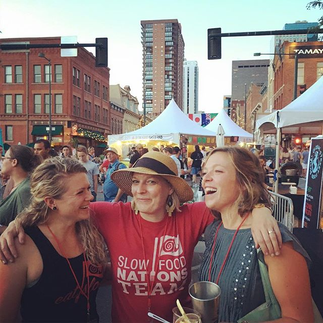 #womenwhogetshitdone Thank you to my team this weekend at #slowfoodnations to being my rock this weekend. I love you and appreciate you to the moon and back 🐌 @felittispaghetti @lwasylkevych @wildcraftkitchen @cebyard @lejahmann