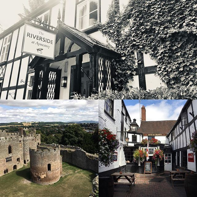 "Lovely day in Ludlow, Shropshire UK with my family. Considered England's most ""foodie"" town with castle tour built in! . . . . . #slowfooduk #slowfoodludlow #riversideaymestrey #slowfoodukcheffalliance"
