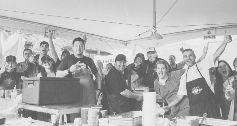 Zero Waste Chefs from 2019:  Jensen Cummings, Daniel Asher, Jamey Fader, Drew Deckman, Sarah Adams, Fabrizio Facchini