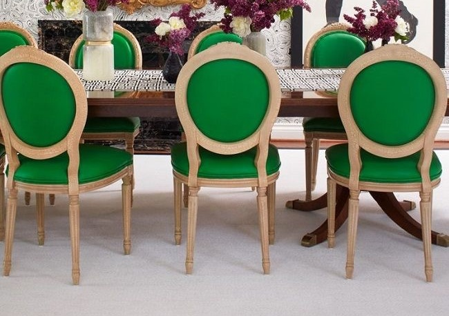 Green dining chairs became an obsession