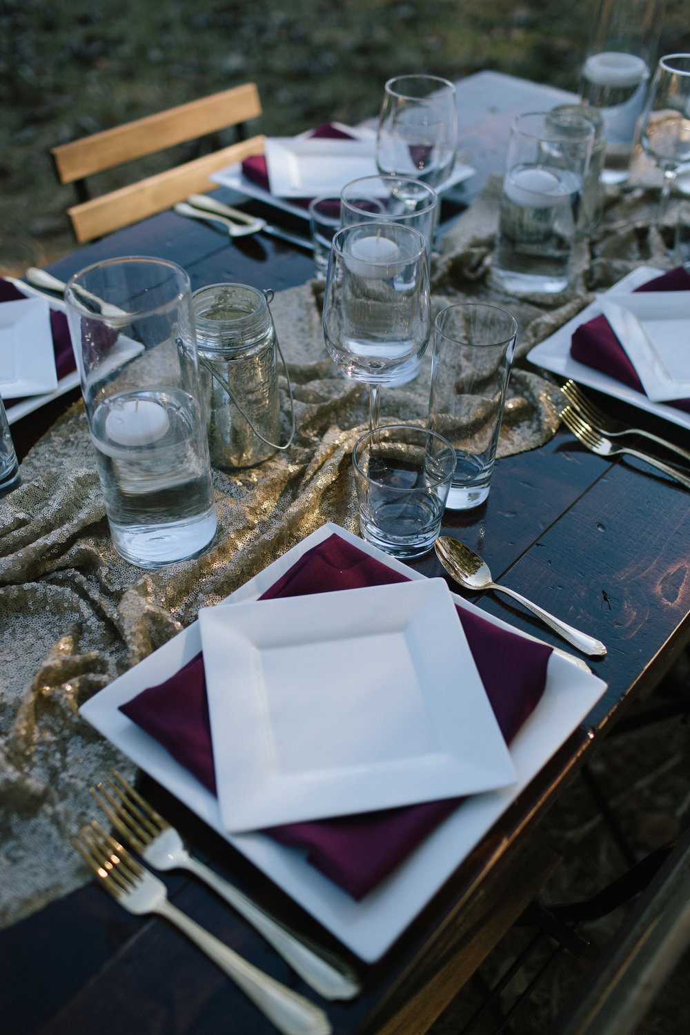 Table Setting #1, titled 'Glitter is Everything'