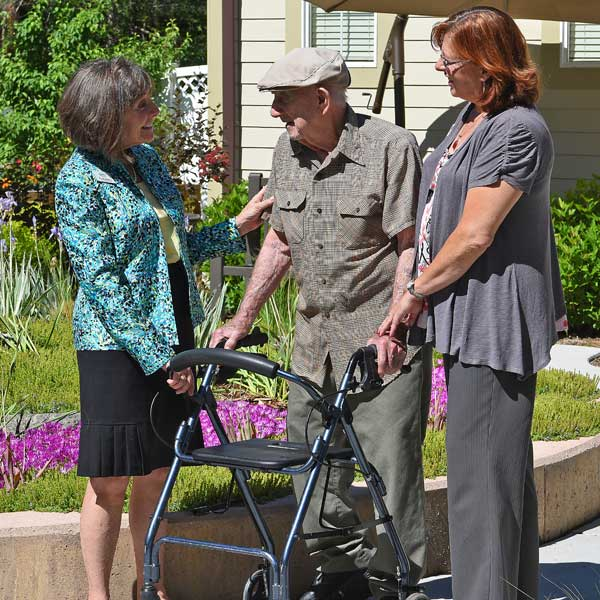 Our attentive and caring staff provides a higher standard of care at  T  he Gardens at Columbine