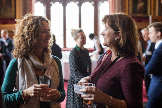 Sarah Reed with Nicky Morgan MP (Photo Credit: James Hopkirk)