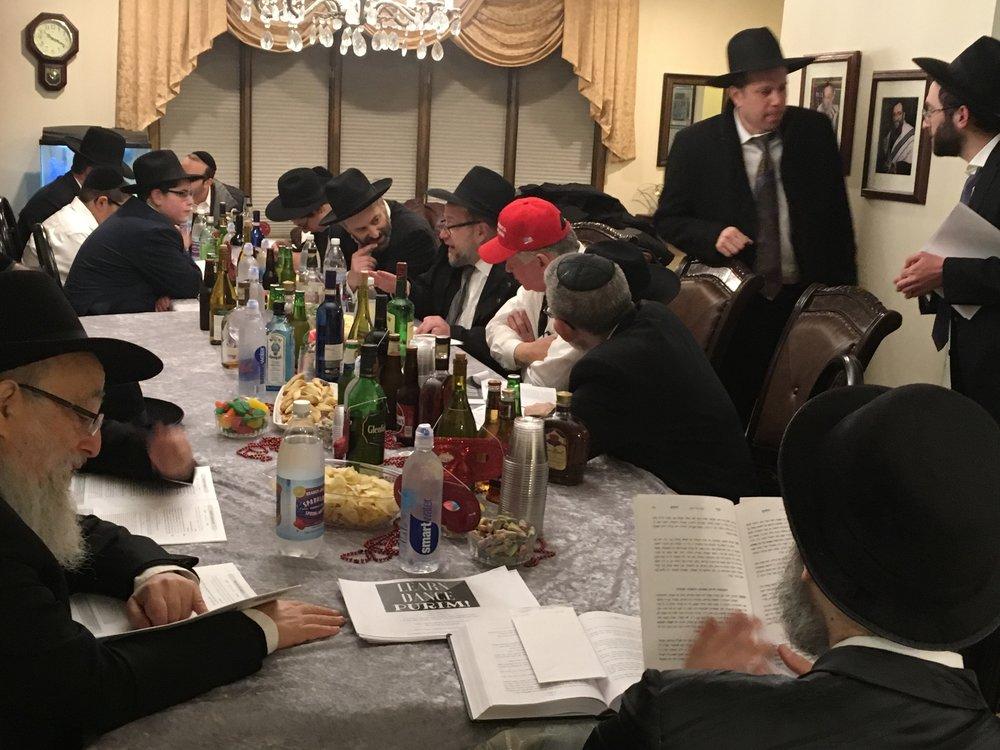 Purim night learning.jpg